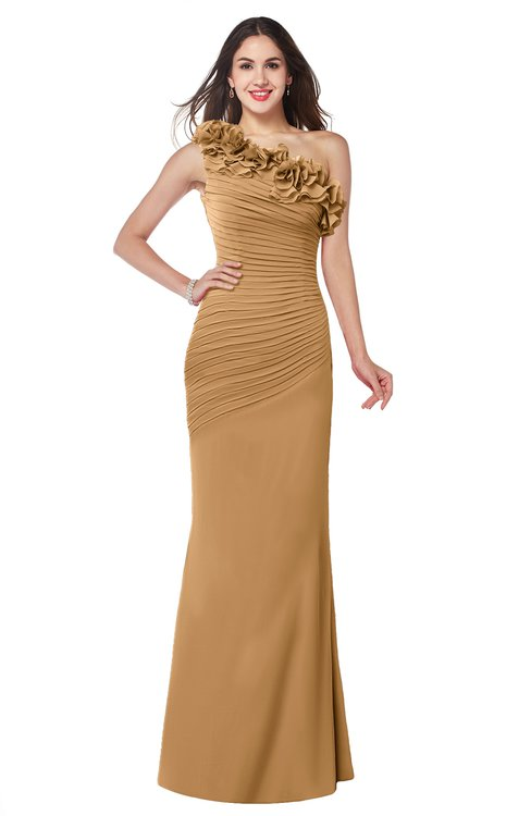 ColsBM Lisa Doe Sexy Fit-n-Flare Sleeveless Half Backless Chiffon Flower Plus Size Bridesmaid Dresses