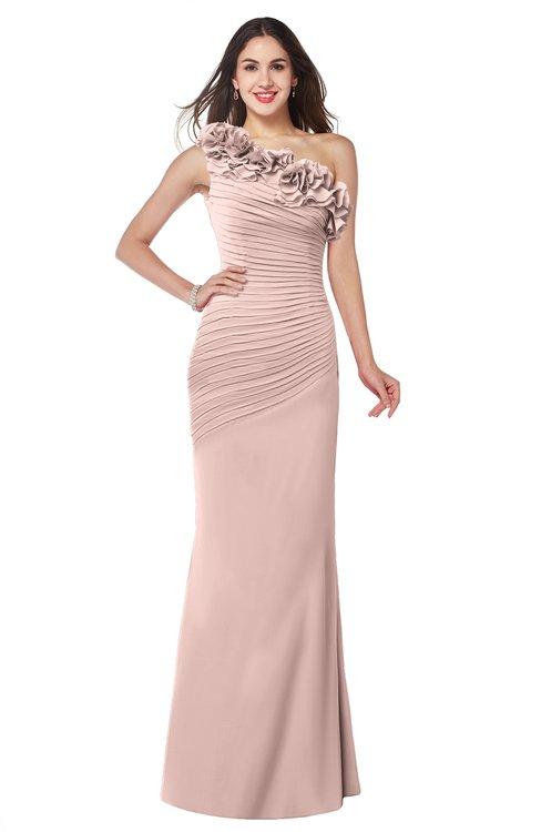 ColsBM Lisa Dusty Rose Sexy Fit-n-Flare Sleeveless Half Backless Chiffon Flower Plus Size Bridesmaid Dresses