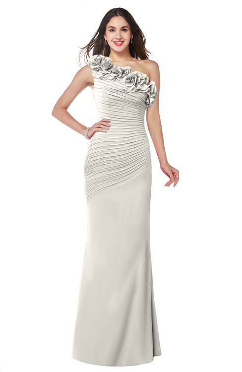 ColsBM Lisa Off White Sexy Fit-n-Flare Sleeveless Half Backless Chiffon Flower Plus Size Bridesmaid Dresses