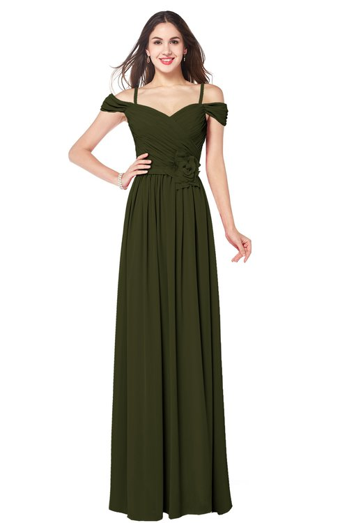 ColsBM Susan Beech Mature Short Sleeve Zipper Floor Length Ribbon Plus Size Bridesmaid Dresses