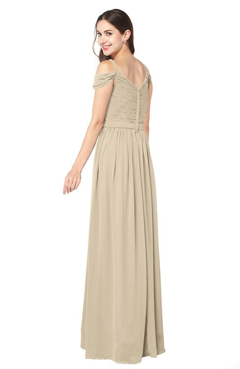 b93066ddf78 ... ColsBM Susan Champagne Mature Short Sleeve Zipper Floor Length Ribbon Plus  Size Bridesmaid Dresses