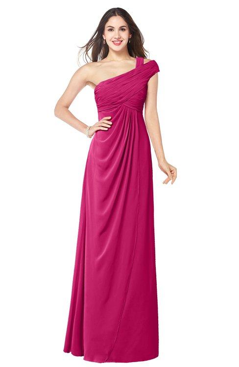 ColsBM Bethany Beetroot Purple Modern A-line Sleeveless Chiffon Floor Length Plus Size Bridesmaid Dresses