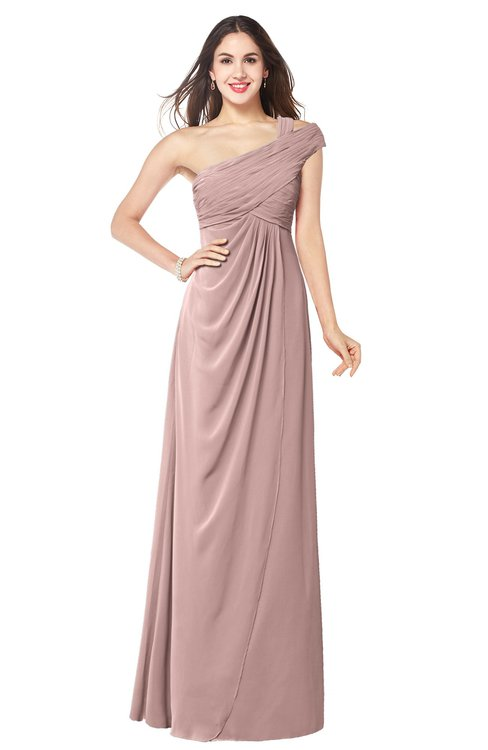 ColsBM Bethany Blush Pink Modern A-line Sleeveless Chiffon Floor Length Plus Size Bridesmaid Dresses