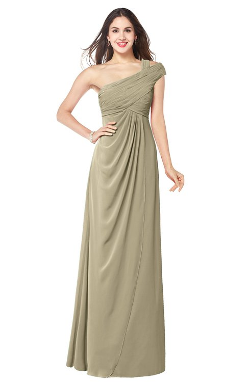 ColsBM Bethany Candied Ginger Modern A-line Sleeveless Chiffon Floor Length Plus Size Bridesmaid Dresses