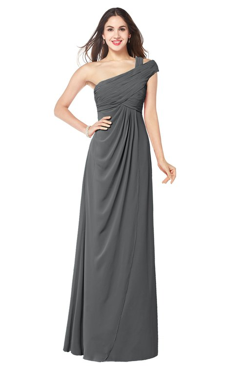 ColsBM Bethany Grey Modern A-line Sleeveless Chiffon Floor Length Plus Size Bridesmaid Dresses