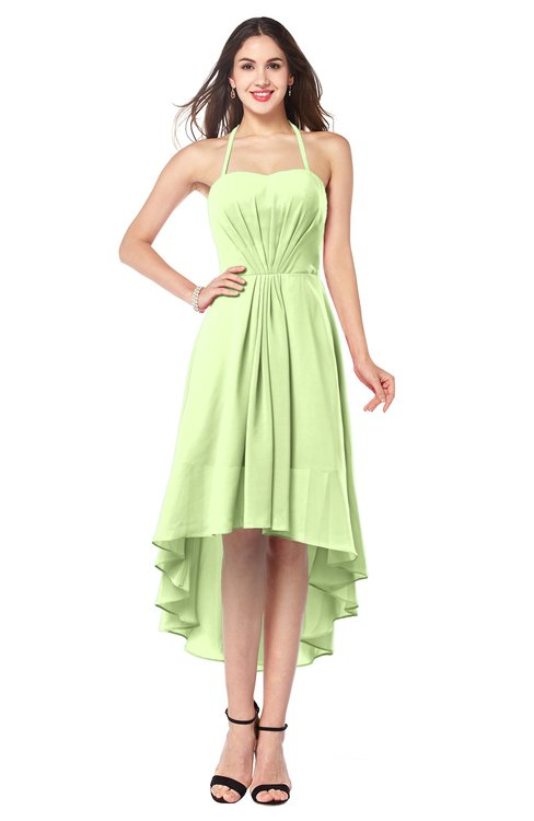 ColsBM Hannah Butterfly Casual A-line Halter Half Backless Asymmetric Ruching Plus Size Bridesmaid Dresses