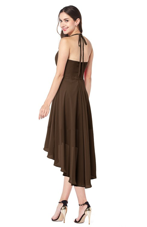 65baf430f0e9 ... ColsBM Hannah Chocolate Brown Casual A-line Halter Half Backless  Asymmetric Ruching Plus Size Bridesmaid