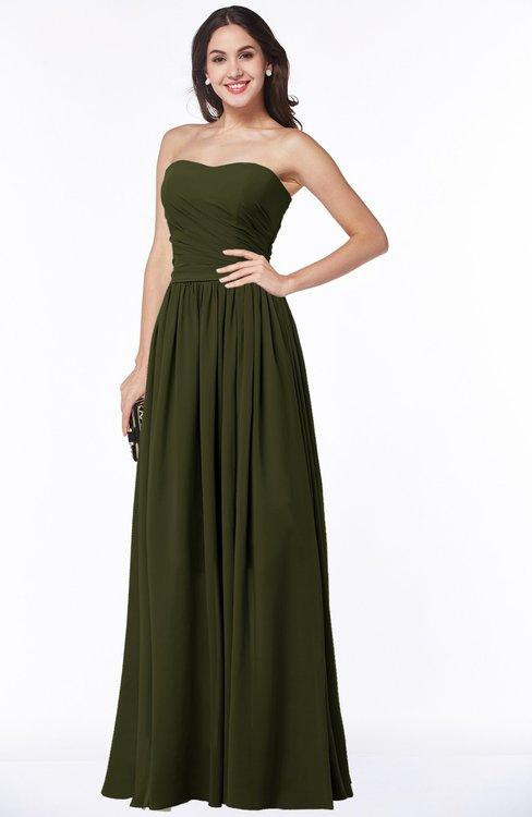 ColsBM Janelle Beech Modern Zip up Chiffon Floor Length Pleated Plus Size Bridesmaid Dresses