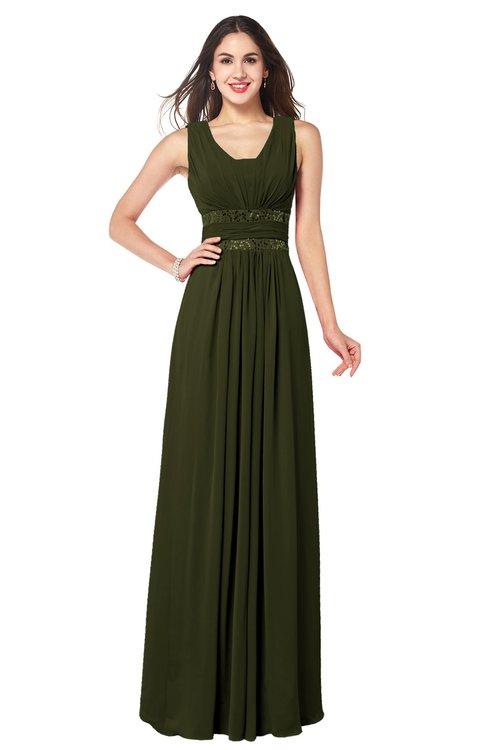 ColsBM Kelly Beech Glamorous A-line Zip up Chiffon Sash Plus Size Bridesmaid Dresses