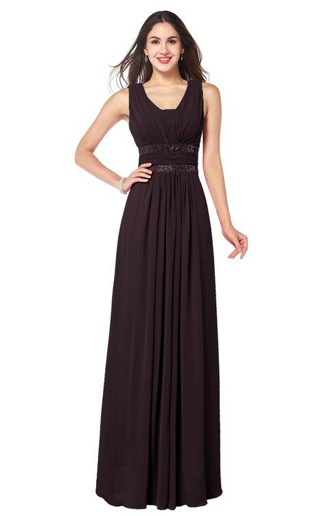 ColsBM Kelly Italian Plum Glamorous A-line Zip up Chiffon Sash Plus Size Bridesmaid Dresses