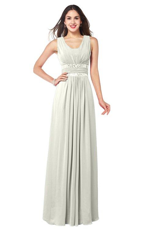 ColsBM Kelly Ivory Glamorous A-line Zip up Chiffon Sash Plus Size Bridesmaid Dresses