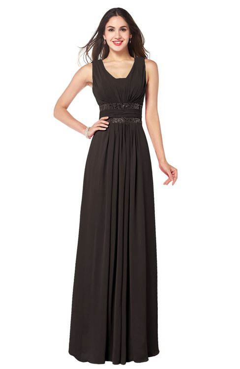 ColsBM Kelly Java Glamorous A-line Zip up Chiffon Sash Plus Size Bridesmaid Dresses