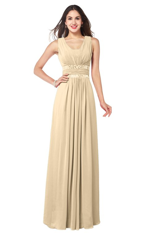 ColsBM Kelly Marzipan Glamorous A-line Zip up Chiffon Sash Plus Size Bridesmaid Dresses