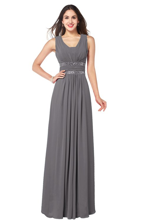 ColsBM Kelly Storm Front Glamorous A-line Zip up Chiffon Sash Plus Size Bridesmaid Dresses
