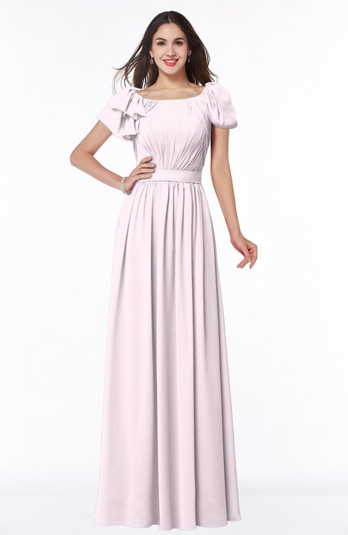 ColsBM Thalia Blush Mature A-line Zipper Chiffon Floor Length Plus Size Bridesmaid Dresses
