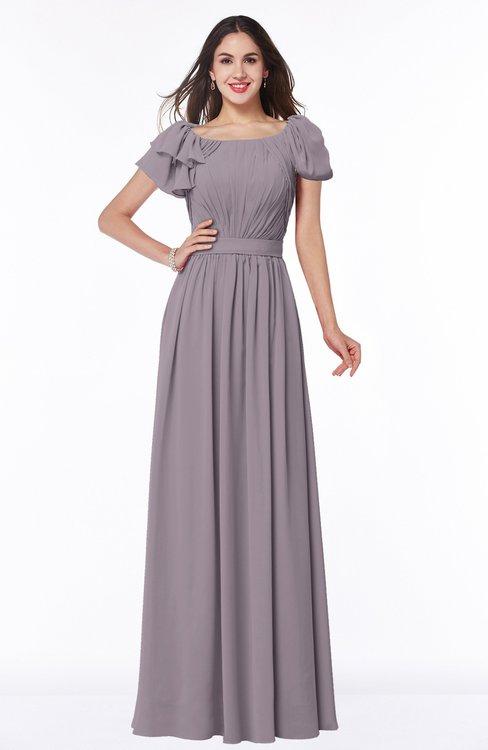 ColsBM Thalia Cameo Mature A-line Zipper Chiffon Floor Length Plus Size Bridesmaid Dresses