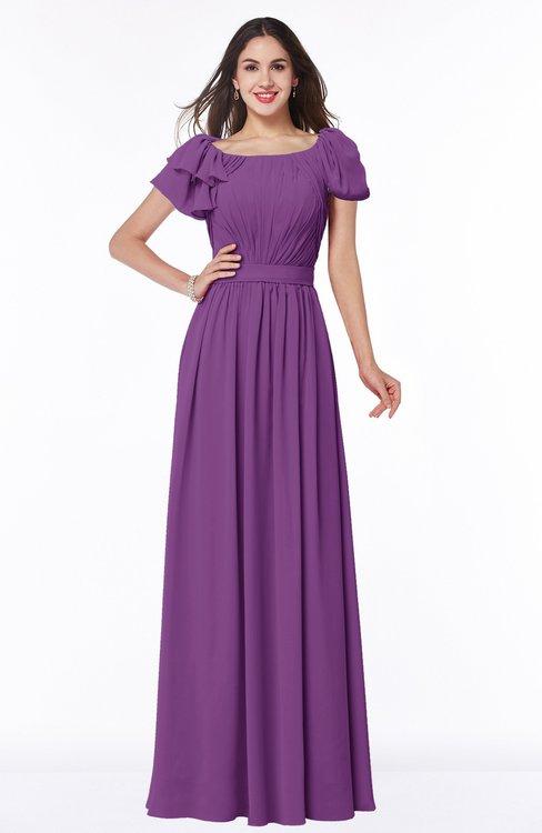 ColsBM Thalia Dahlia Mature A-line Zipper Chiffon Floor Length Plus Size Bridesmaid Dresses