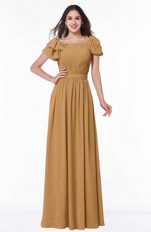 ColsBM Thalia Doe Mature A-line Zipper Chiffon Floor Length Plus Size Bridesmaid Dresses
