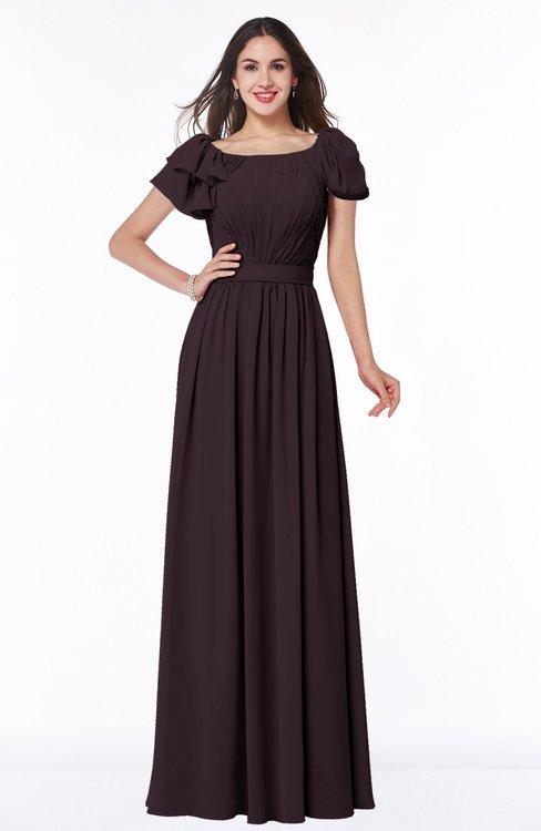 ColsBM Thalia Italian Plum Mature A-line Zipper Chiffon Floor Length Plus Size Bridesmaid Dresses