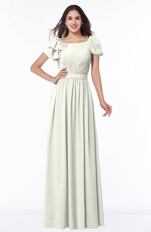 ColsBM Thalia Ivory Mature A-line Zipper Chiffon Floor Length Plus Size Bridesmaid Dresses