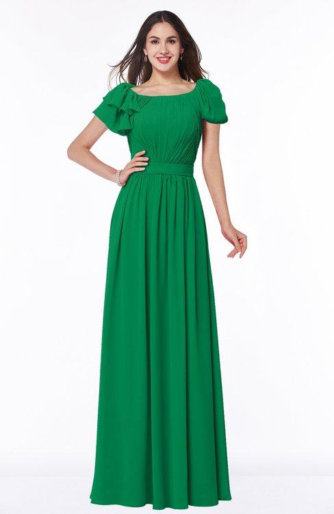 ColsBM Thalia Jelly Bean Mature A-line Zipper Chiffon Floor Length Plus Size Bridesmaid Dresses