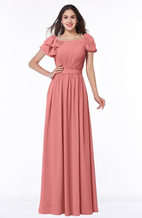 ColsBM Thalia Lantana Mature A-line Zipper Chiffon Floor Length Plus Size Bridesmaid Dresses
