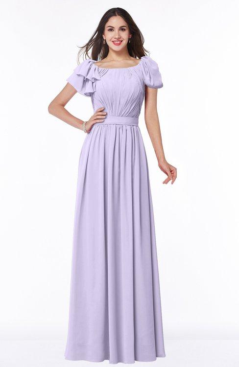 ColsBM Thalia Light Purple Mature A-line Zipper Chiffon Floor Length Plus Size Bridesmaid Dresses