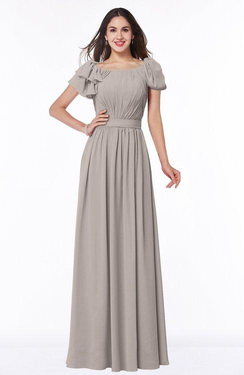 ColsBM Thalia Mushroom Mature A-line Zipper Chiffon Floor Length Plus Size Bridesmaid Dresses