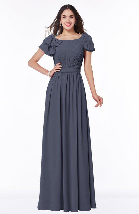 ColsBM Thalia Nightshadow Blue Mature A-line Zipper Chiffon Floor Length Plus Size Bridesmaid Dresses