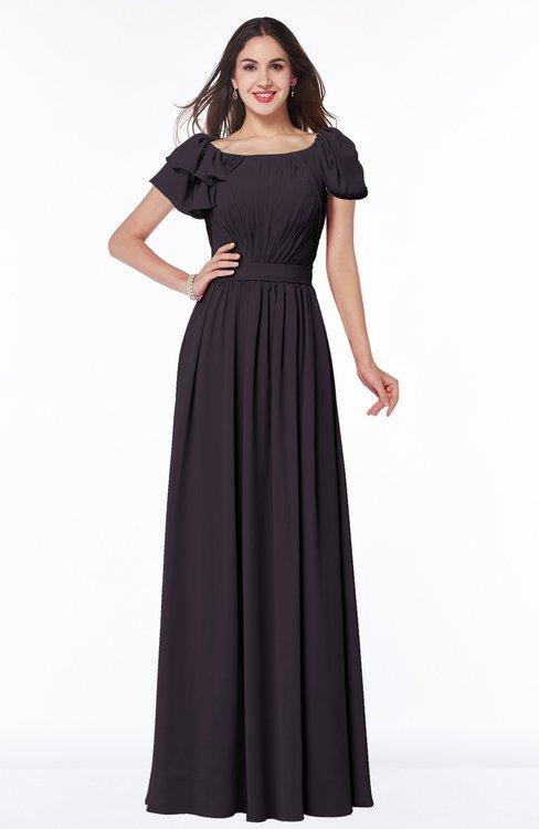ColsBM Thalia Perfect Plum Mature A-line Zipper Chiffon Floor Length Plus Size Bridesmaid Dresses