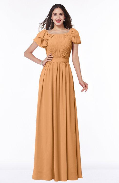 ColsBM Thalia Pheasant Mature A-line Zipper Chiffon Floor Length Plus Size Bridesmaid Dresses