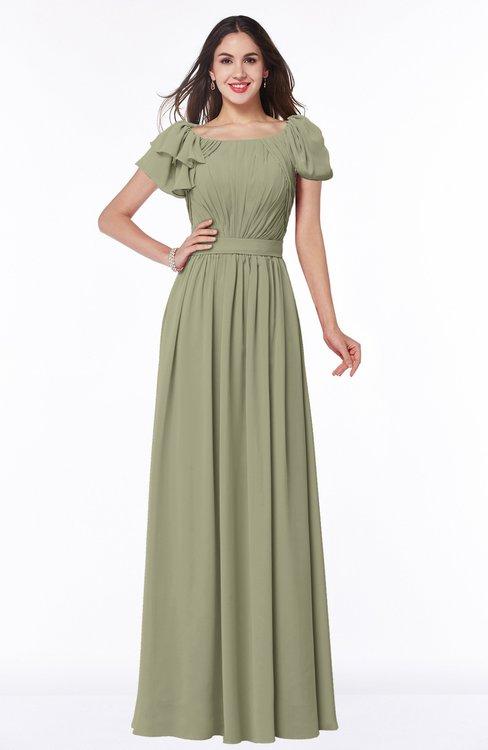 ColsBM Thalia Sponge Mature A-line Zipper Chiffon Floor Length Plus Size Bridesmaid Dresses