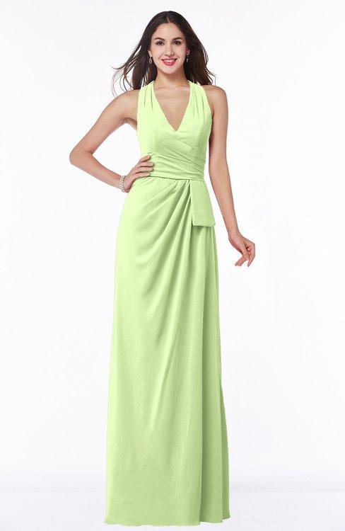 ColsBM Alma Butterfly Elegant A-line Halter Sleeveless Zipper Chiffon Plus Size Bridesmaid Dresses