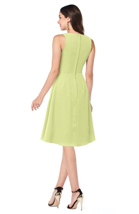 d512500aaeb ... ColsBM Melissa Lime Green Sexy V-neck Sleeveless Chiffon Knee Length  Plus Size Bridesmaid Dresses