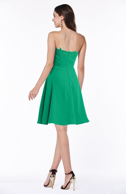 7d0a854983246 ... ColsBM Kayleigh Sea Green Modern A-line Strapless Sleeveless Appliques  Plus Size Bridesmaid Dresses