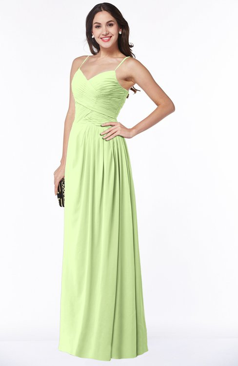 ColsBM Kaitlyn Butterfly Cinderella A-line Sleeveless Chiffon Floor Length Ruching Plus Size Bridesmaid Dresses