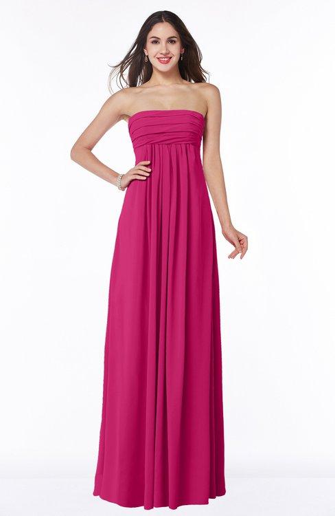 ColsBM Blythe Beetroot Purple Romantic Empire Sleeveless Backless Floor Length Plus Size Bridesmaid Dresses