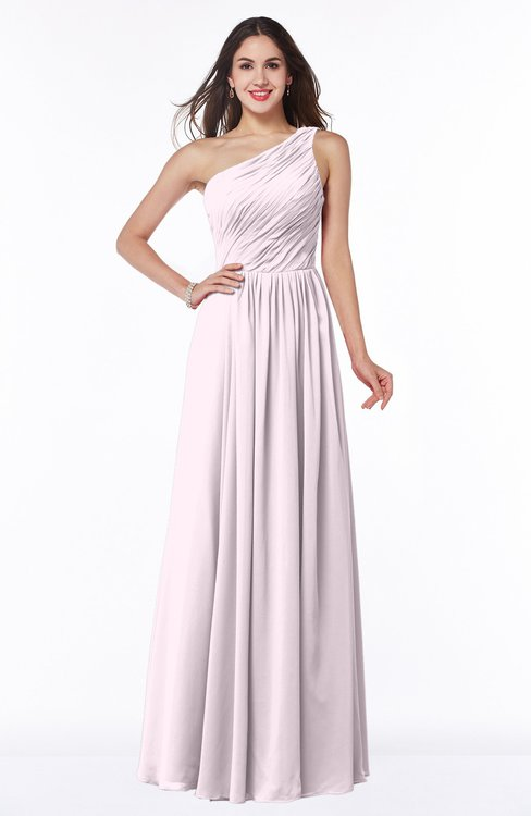ColsBM Nancy Blush Sexy A-line Sleeveless Zip up Chiffon Ruching Plus Size Bridesmaid Dresses