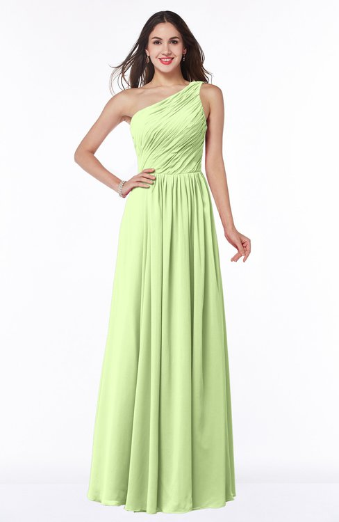 ColsBM Nancy Butterfly Sexy A-line Sleeveless Zip up Chiffon Ruching Plus Size Bridesmaid Dresses