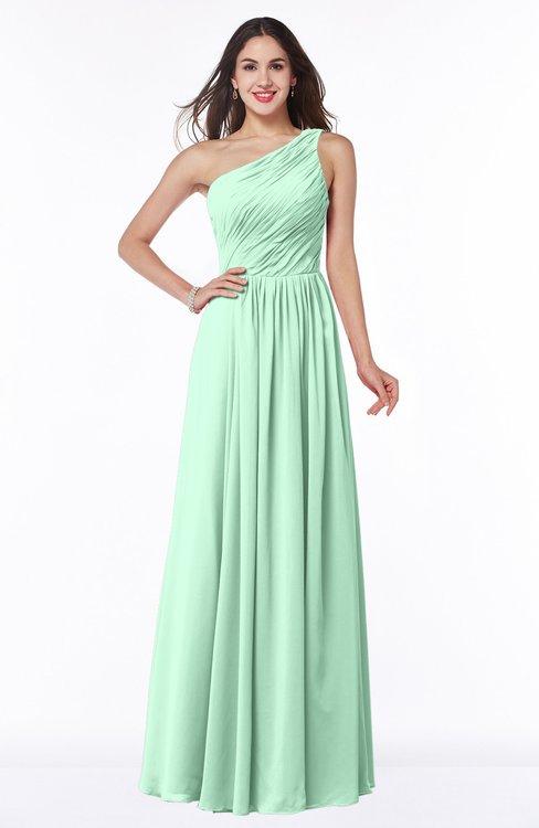 ColsBM Nancy Honeydew Sexy A-line Sleeveless Zip up Chiffon Ruching Plus Size Bridesmaid Dresses