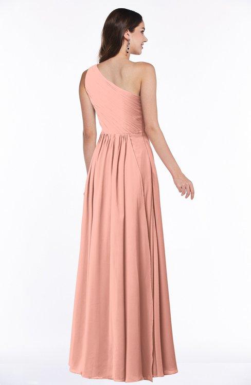 719dbae5a3ed ... ColsBM Nancy Peach Sexy A-line Sleeveless Zip up Chiffon Ruching Plus  Size Bridesmaid Dresses