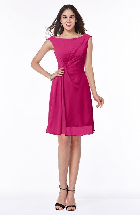 ColsBM Kaylie Beetroot Purple Gorgeous A-line Bateau Sleeveless Backless Plus Size Bridesmaid Dresses