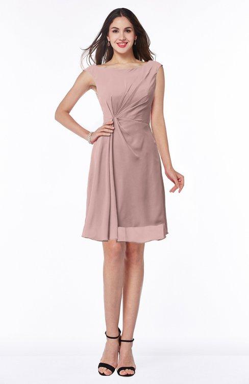 ColsBM Kaylie Blush Pink Gorgeous A-line Bateau Sleeveless Backless Plus Size Bridesmaid Dresses