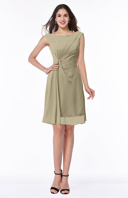 ColsBM Kaylie Candied Ginger Gorgeous A-line Bateau Sleeveless Backless Plus Size Bridesmaid Dresses