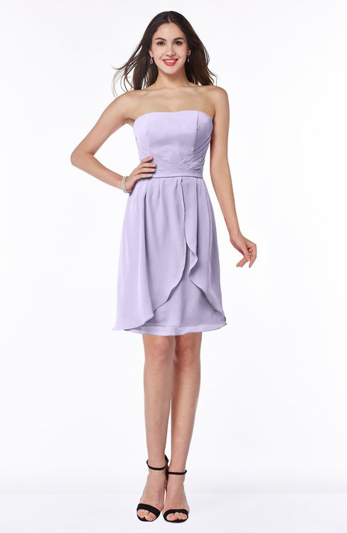 44f28f55b65 ColsBM Kinslee Light Purple Glamorous A-line Sleeveless Zipper Chiffon Knee  Length Plus Size Bridesmaid