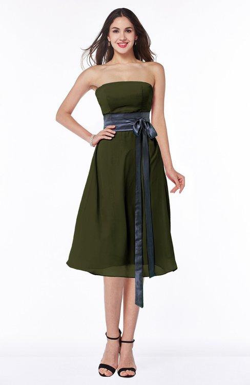 ColsBM Renata Beech Simple A-line Strapless Sleeveless Zip up Sash Plus Size Bridesmaid Dresses
