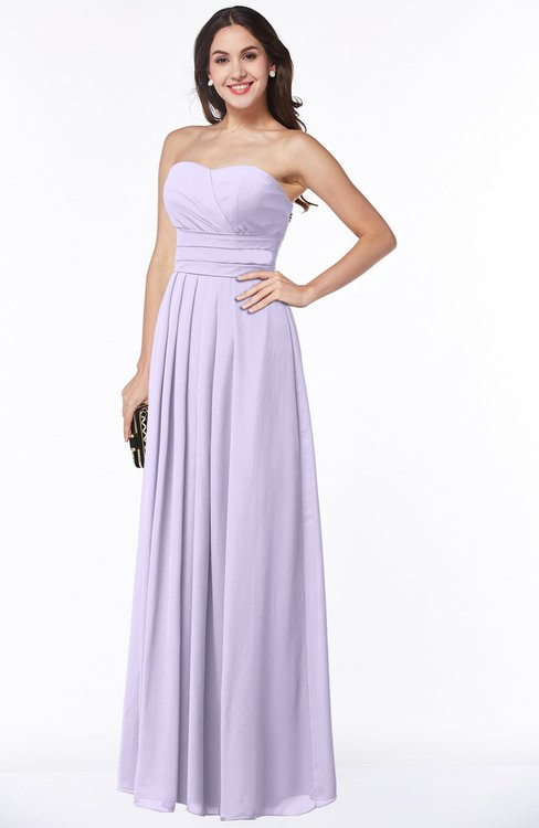 ColsBM Rosa Pastel Lilac Mature Sleeveless Zipper Chiffon Ruching Plus Size Bridesmaid Dresses