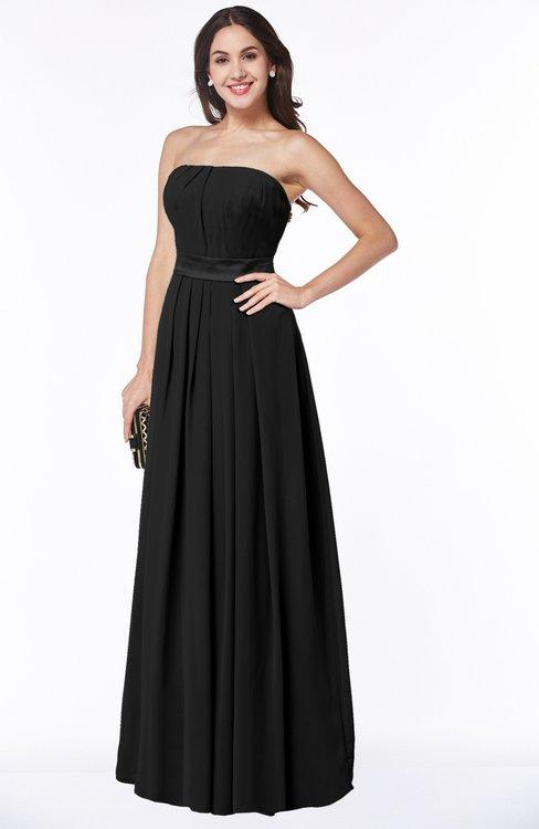Colsbm Amia Black Bridesmaid Dresses Colorsbridesmaid