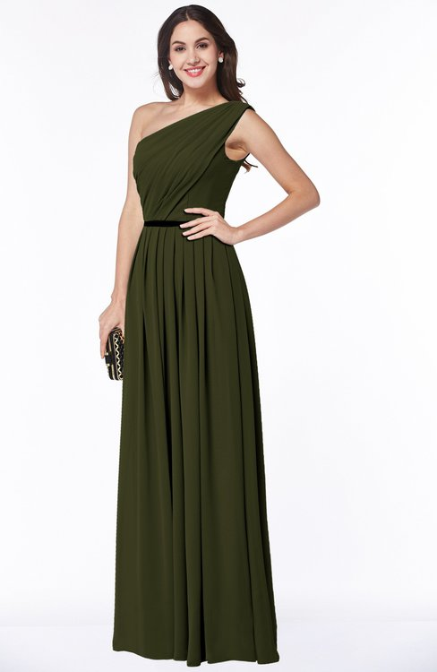 ColsBM Tiana Beech Traditional A-line One Shoulder Chiffon Floor Length Plus Size Bridesmaid Dresses