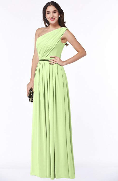 ColsBM Tiana Butterfly Traditional A-line One Shoulder Chiffon Floor Length Plus Size Bridesmaid Dresses